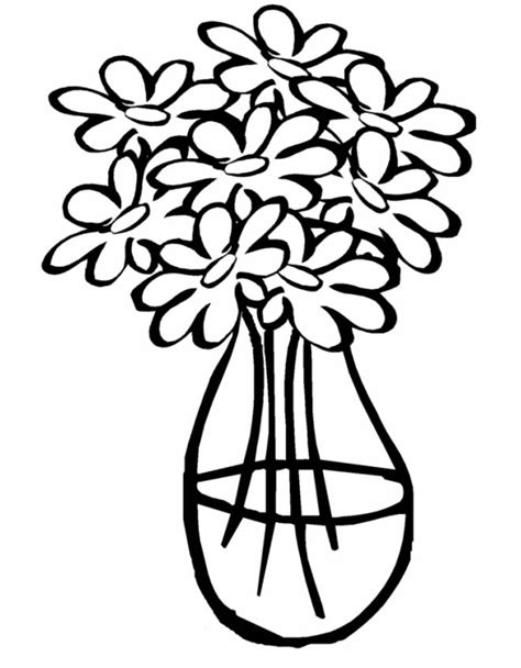 vaso di fiori da colorare disegno di vaso con acqua da colorare per bambini