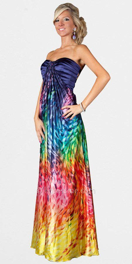 bright color dresses 25 best ideas about rainbow prom dress on