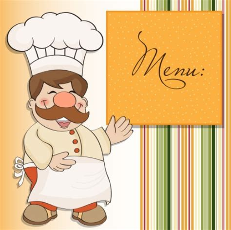 Free Cute Cartoon Restaurant Menu Design Vector Titanui Caricature Templates Free