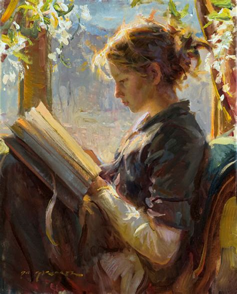 paint reader daniel f gerhartz 1965 ladies with flowers tutt art