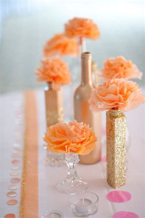 17 Best images about Peach & Gold Weddings on Pinterest