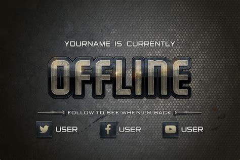 Twitch Gamergrunge Offline Banner Template Twitch Offline Banner Template