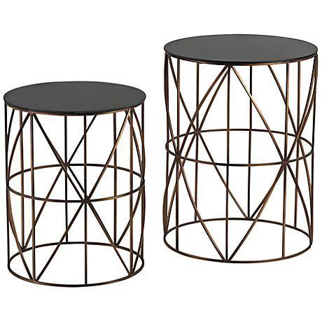 bradfield set of two drum side tables pulaski emila florence white mirror 4 door server table