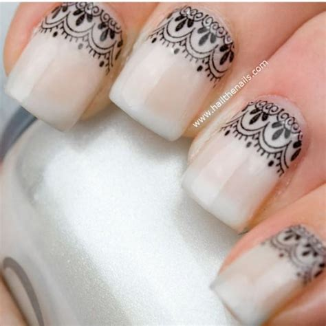 Nail Blacklace black lace nail water transfer decal yd10 new