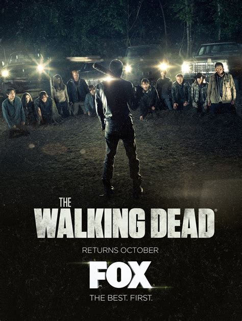 The Walking Dead the walking dead p 243 ster promocional de la s 233 ptima temporada comic con 2016