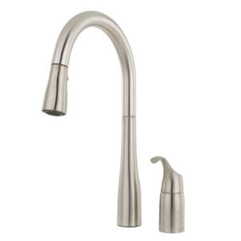 kohler simplice single handle pull  sprayer kitchen faucet  docknetik  sweep spray