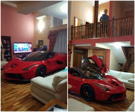 car in living room updated laferrari owner keeps his car in the living room