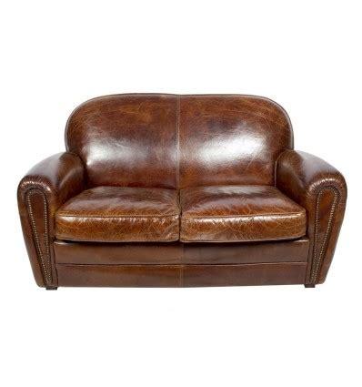 canapé vintage marron canap 195 169 cuir marron vieilli
