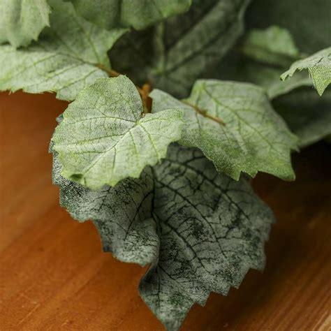 artificial grape leaf bush artificial greenery floral