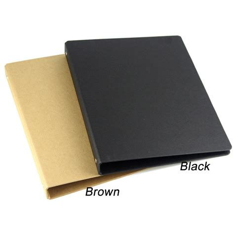 aliexpress buy brown black a4 b5 a5 a6 kraft notebook office ring binder folder 4 6 20 26