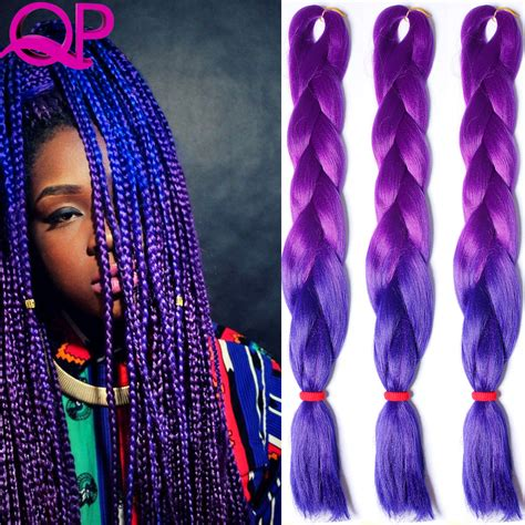 purple ombre braiding hair ombre kanekalon braiding hair purple green kanekalon jumbo