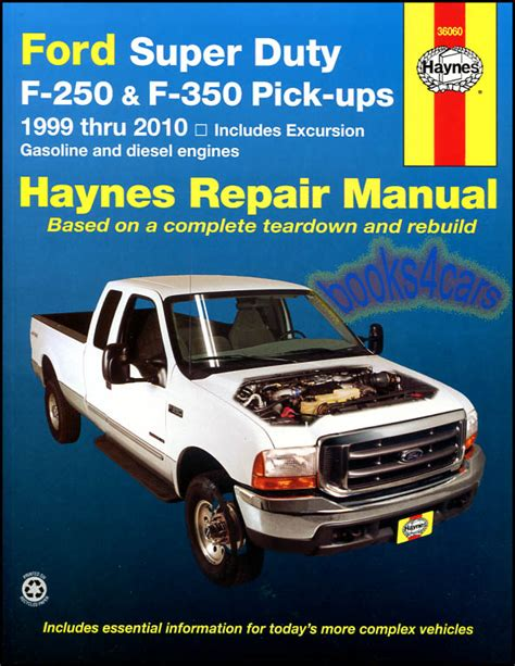 ford f250 shop manual service repair book haynes chilton sd diesel power stroke ebay