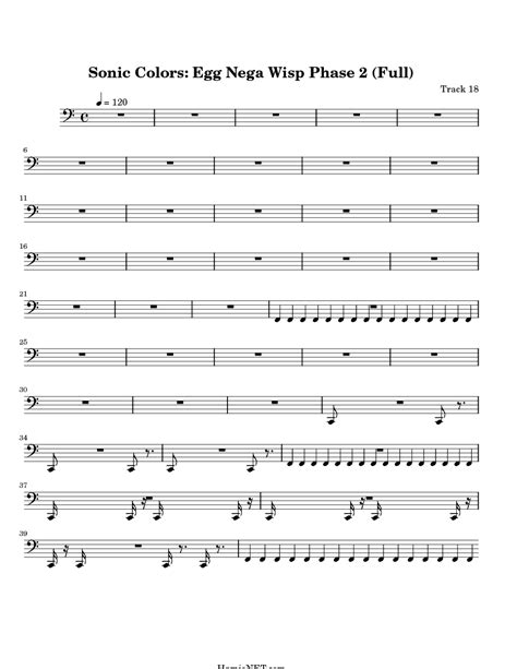sonic colors lyrics sonic colors egg nega wisp phase 2 full sheet music