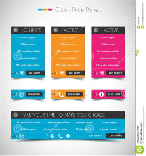 web price web price shop panel with space for text and buy now