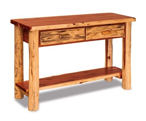 sofa table with drawer cedar sofa table with drawer everything amish