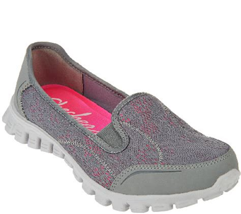 skech knit skechers skech knit slip on sneakers this qvc