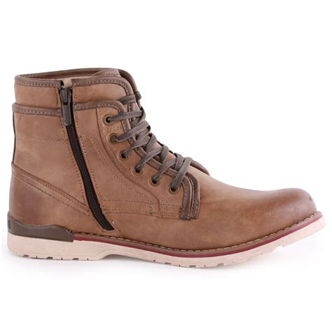 mustang 4061 602 mens synthetic leather ankle boots
