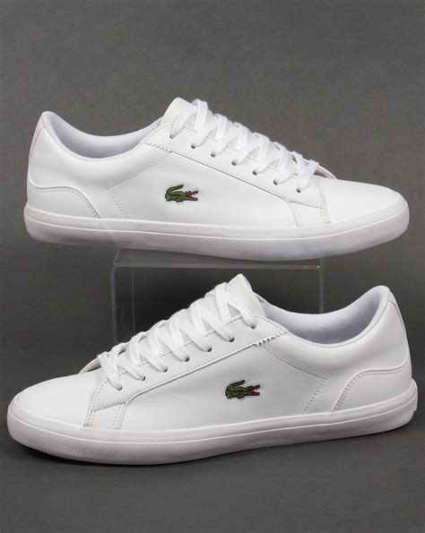 Lacoste Lerond Trainers In White lacoste lerond leather trainers white shoes pumps mens