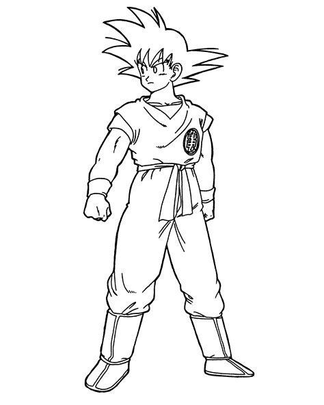 goku coloring pages goku coloring pages to and print for free