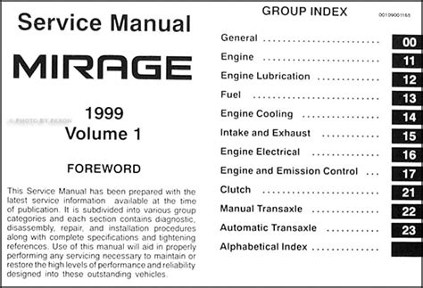service manual manual repair autos 1997 mitsubishi mirage electronic toll collection service 1999 mitsubishi mirage repair shop manual set original