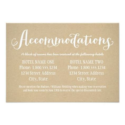 what to put on wedding accommodation cards 25 best ideas about accommodations card on