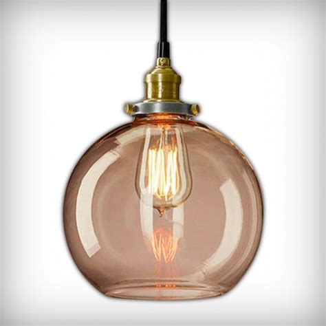 Factory Glass Sphere Pendant Light Coffee Industrial Glass Sphere Pendant Light