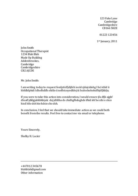 Template Letter Of Formal Letter Template Formal Letter Template