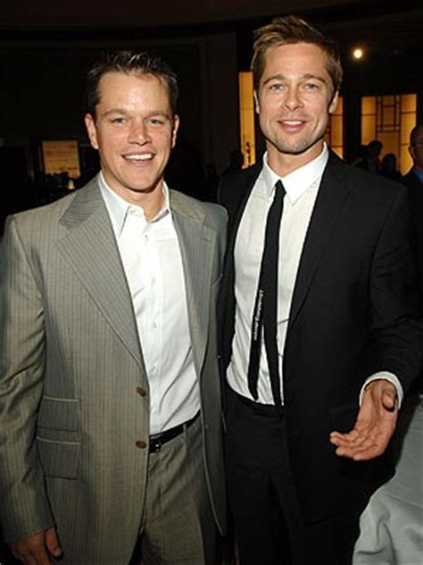 Get Brad And Matts Oceans 13 Shades by Happy 2 Brad Pitt And Matt Damon Together Again