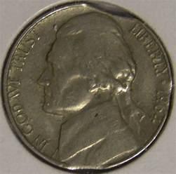1964 d jefferson nickel triple clipped planchet mint