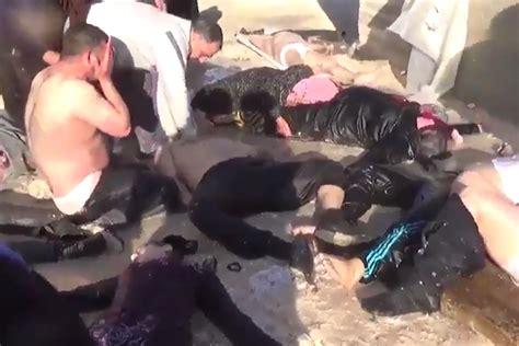 imagenes fuertes siria ataque qu 237 mico en siria deja decenas de muertos video