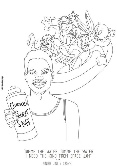 coloring book mixtape chance free space jam coloring pages coloring home