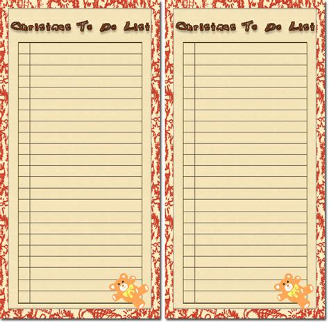 free christmas to do lists 4 free holiday printable to do