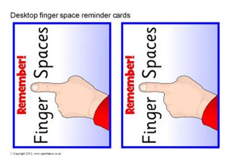how to use spaces finger space desktop reminder cards sb9034 sparklebox