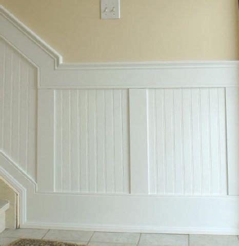 beadboard on stairs wainscoting with recessed beadboard interior details