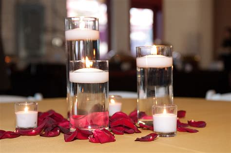 Floating Candle Vases by Cobblestone Wedding Sacred Cathedral Wedding