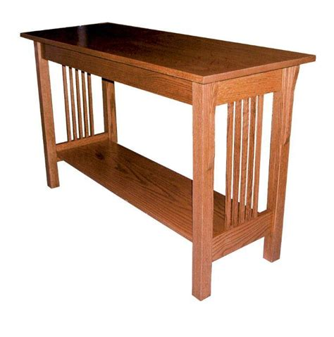 amish sofa table amish prairie mission sofa table