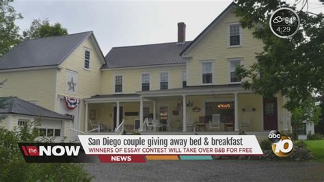 Maine Bed And Breakfast Giveaway - san diego couple giving away maine bed breakfast wkbw com buffalo ny