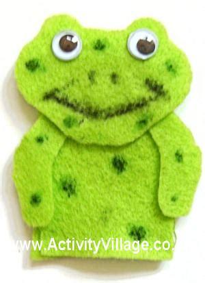 frog finger puppet template frog finger puppet craft