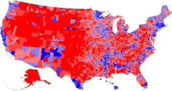 us voting map by county clinton on pace to win popular vote despite losing