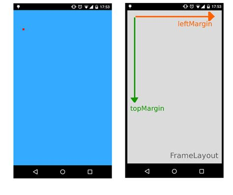 layout root view android set the absolute position of a view stack overflow