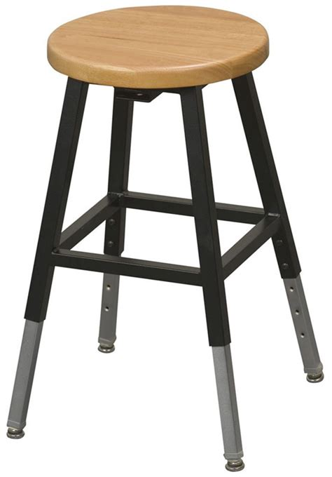 Science Lab Stools With Backs by Balt Adjustable Height Lab Stool Without Back Black 1