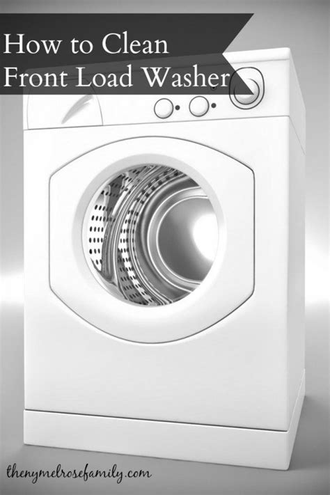 clean mold from front load washer how to clean front load washer the family