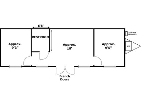 office floor plan sles 12 x 44 floor plan bert s office trailers