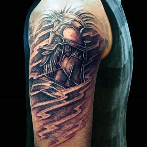 warrior sleeve tattoo designs 60 half sleeve tattoos for manly designs and