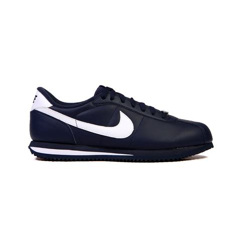 nike cortez basic leather 06 obsidian white blanc s