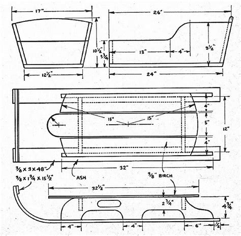 woodwork wooden sled plans  plans