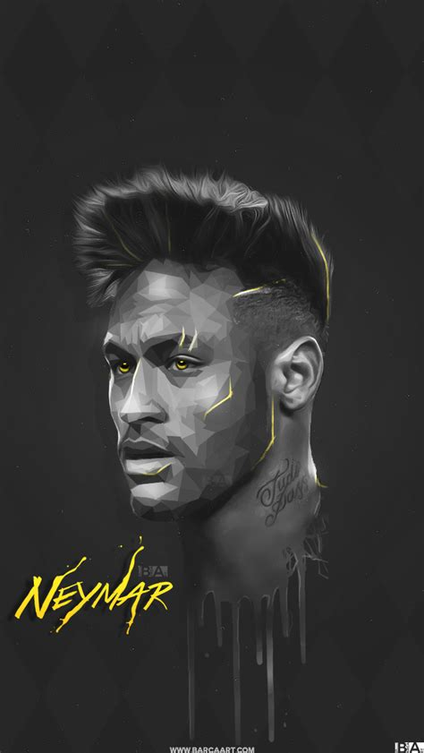 Neumor Black Top barcaart neymar jr