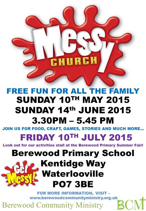 messy church events berewood community ministry
