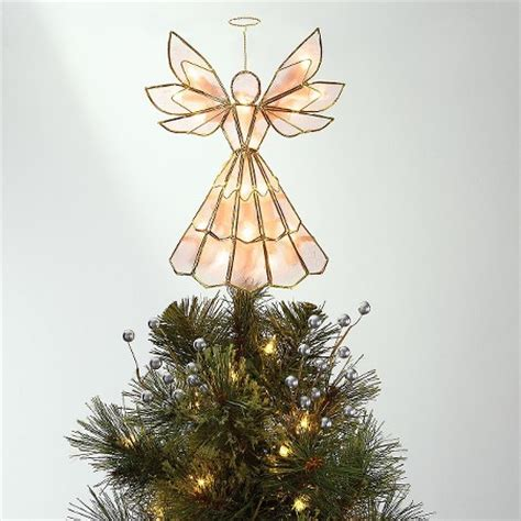 lit capiz angel tree topper wondershop target