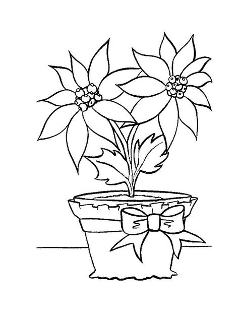free printable poinsettia coloring pages for kids